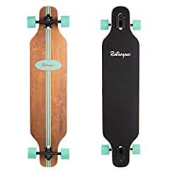 """Classic retro-surf-style longboard for commuting, cruising, carving, and downhill riding Dimensions: 41"""" x 9.5"""" featuring drop-through trucks Made with 8-ply vertically laminated Canadian Maple ABEC-7 pre-lubricated high-speed carbon bearings for a s..."""
