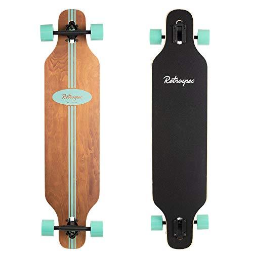 Retrospec Rift Drop-Through Longboard Skateboard Complete, Seafoam Pipeline