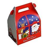 Amhomely - Bolsa de papel para decoración de Navidad, 5 unidades, decoración navideña