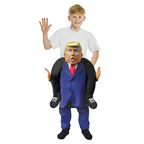 Kinder Donald Trump Huckepack Kostüm Lustiges Täuschungskostüm Trag Mich Verkleidung