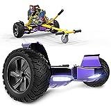 GeekMe Scooter Elettrico autoalimentato da 8,5 '' per Tutti i Terreni con Potente Motore Bluetooth Integrato + Hoverkart per Overboard…