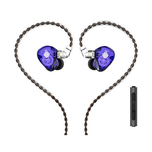 HIDIZS MS1-Rainbow In-Ear Monitor Headphones, Hi Res Wired Earphones, Polymer Diaphragm Hi-Fi IEM Earphones with Detachable Cable 2pin 0.78mm for Android Smartphones and Audio Players (Purple)