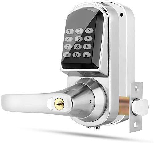 Serratura Smart, Serratura Elettronica Intelligente, Password Serratura Digitale Porta / Chiave Meccanica / RFID Card Unknocking Smart Door Lock / Blocco Antifurto Digital Push Button Door