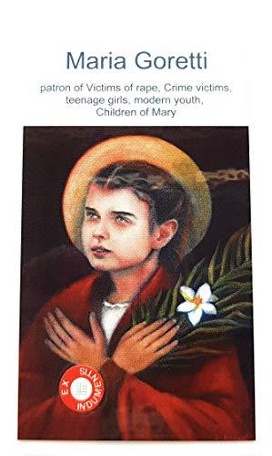 Medalha relíquia 3ª classe de Santa Maria Goretti Padrão das Vítimas da Violação, Vítimas do Crime, Adolescentes Meninas, Jovens Modernas Santa María Goretti