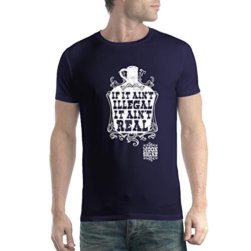 avocadoWEAR Licor Destilado Ilegalmente Whisky Ilegal Hombre Camiseta Azul Marino 5XL