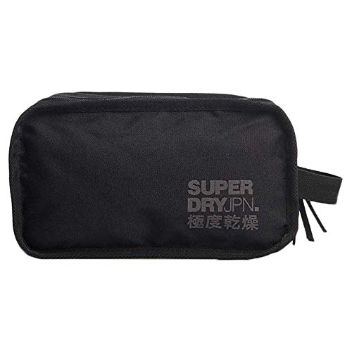 SUPERDRY 2 Zip WASH Bag Black