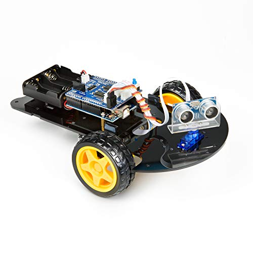 UCTRONICS Smart Robot Car Kit for Arduino UNO R3 Automatic Avoidance of Obstacles, 2-Wheel Drives, HC-SR04 Ultrasonic Sensor, L293D Motor Control Shield, Micro Servo Motor 9g