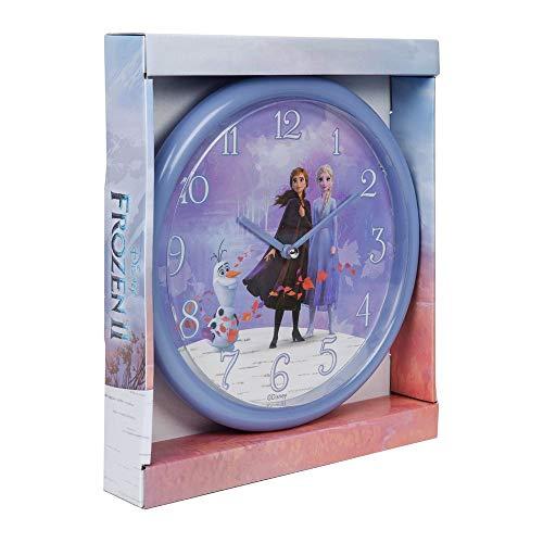 Disney Frozen 2 Olaf Elsa Anna orologio da parete al quarzo, per bambini, colore: viola