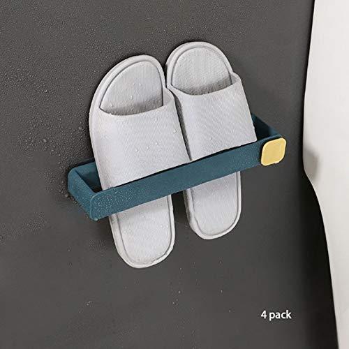 NYKK Zapatero Zapatilla hogar Rack Toalla tocador enganchan el Estante Perforado Aseo Baño de Almacenamiento de Pared Zapatero Zapatos Estante de Almacenamiento (Color : 4 Pack)