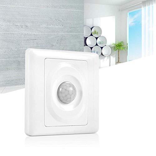 Omabeta Práctico Interruptor Inteligente LED PIR sin Parpadeo para lámpara incandescente 86 x 86 x 25 mm