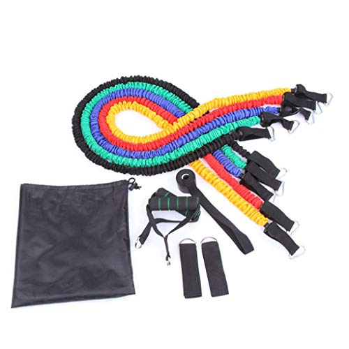 New KOVIPGU Resistance Bands Set Stretchable Gym Exercise Bands Kits Strong Special Latex