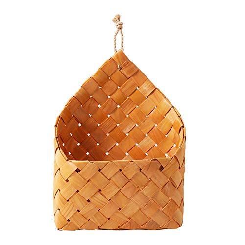 Yalatan flor de la hierba Rattan cesta pared colgante natural mimbre flor cesta casa jardín pared decoración contenedor de