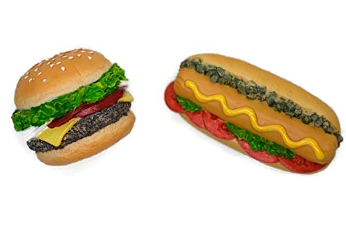 Buy Easy Vintage Magnet Mix Hamburger and Hotdog Recipe Fast Food Dollhouse Miniature Kitchen Food Supply
