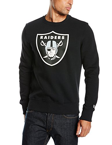 New Era Herren Pullover Crew Neck NFL Team Logo Oakland Raiders, Black, M