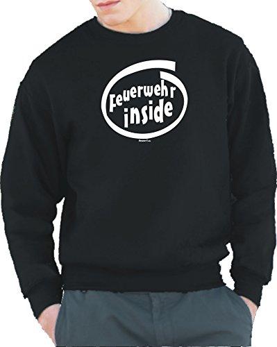 feuer1 'Sweat-Shirt Black, Pompiers Inside L Noir - Noir