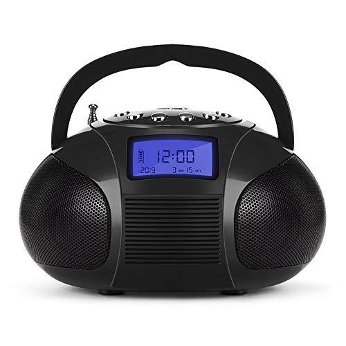 YWSZY Tragbares Radiowecker Mit Bluetooth-Lautsprecher Mini-Mp3-Stereoanlage Mit Sd-Karte/USB/Aux 2X3W High-Fidelity-Lautsprecher @ Schwarz