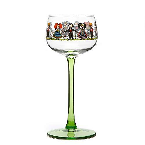 YY Dwarfs - Juego de 2 copas de vino pintadas a mano, pieza única de arte, copas de vino, regalos únicos pintados a mano, regalo ideal