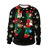 odokei unisex felpa natale senza cappuccio funny 3d christmas maglioni natalizi stampato pullover t-shirt maglione natalizio uomo maglioni di natale stile5 l
