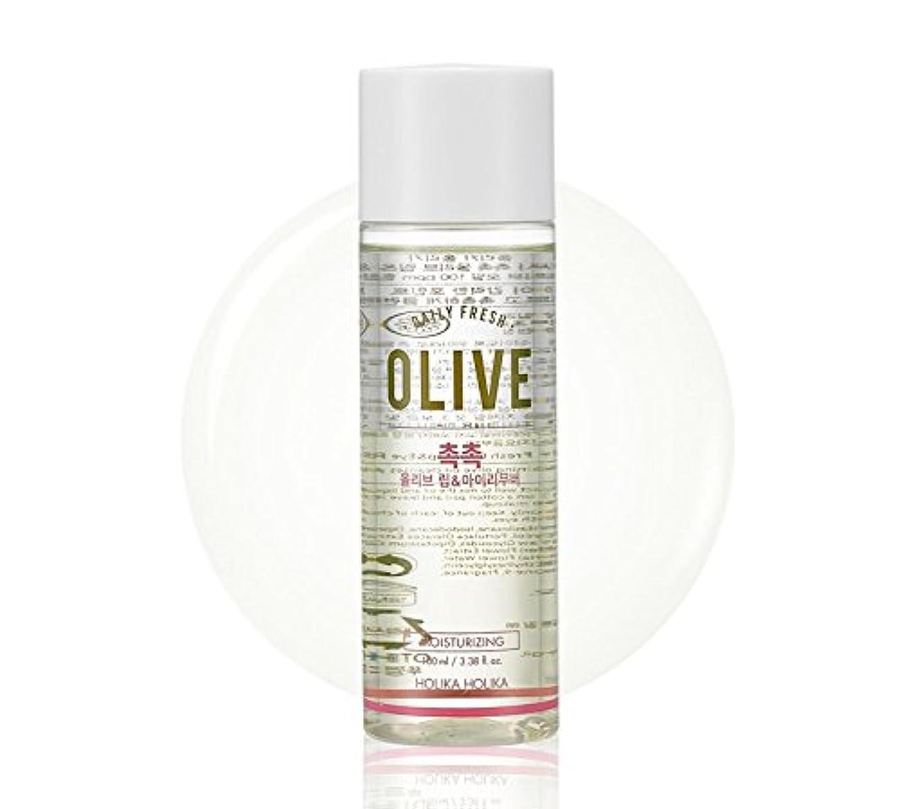 開発するスライス若いHolika Holika daily fresh olive lip& eye remover(moisturizing) ホリカホリカデーリーフレッシュオリーブリップアンドアイリムーバー [並行輸入品]