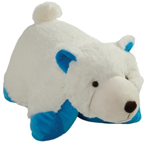 Pillow Pets My Blue Bottom Wintry Polar Bear Plush, 18'/Large