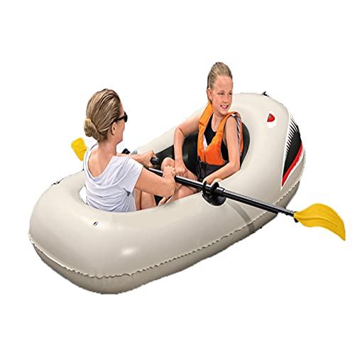 HOUADDY Bote de Rafting Inflable portátil, Kayak de múltiples Globos de Doble Remo para 2 Personas, Utilizado para Adultos en el Lago y Deportes acuáticos para niños