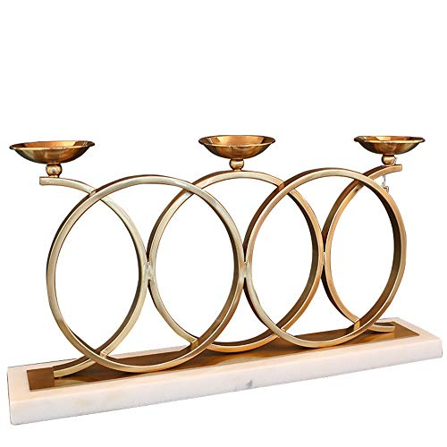 VSander Nordic Artverzierungen Marmor Leuchter modernen Hotelrestaurant Tisch Kerzenhalter Modell Showroom Schmuck 63 * 12 * 34cm
