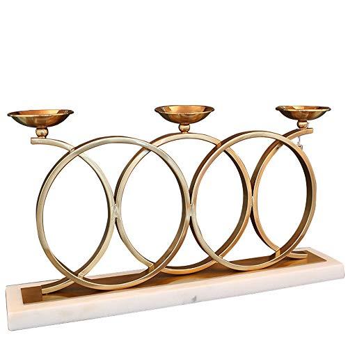 Sebasty Ornamente Nordic Artverzierungen Marmor Leuchter modernen Hotelrestaurant Tisch Kerzenhalter Modell Showroom Schmuck 63 * 12 * 34cm
