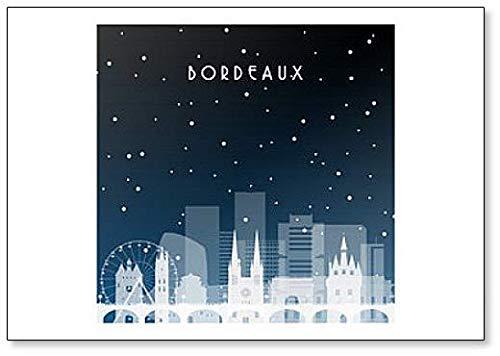 Imán para nevera con diseño de la Noche de Invierno en Burdeos