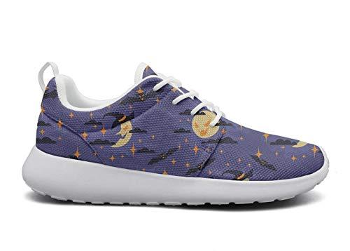 rttyl et67u67 Light Sneaker Young Women Fashion Halloween Moon Climbing Track Running Shoes