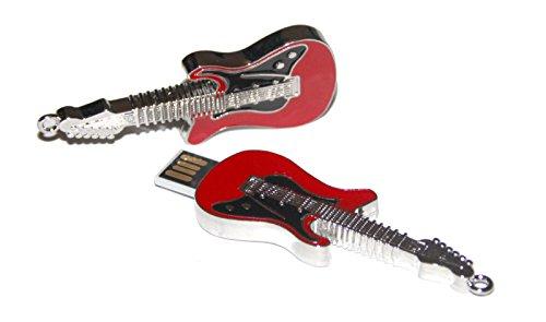 Tomax guitarra eléctrica de color rojo metálico negro como una unidad flash...