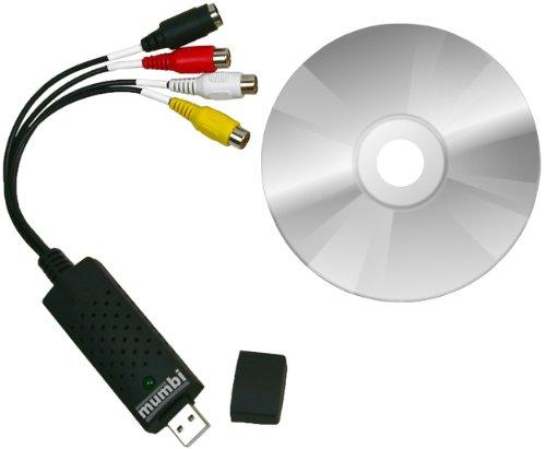 mumbi Video Grabber USB 2.0 - Audio und Videograbber USB PC Bearbeitung Videoadapter Nachbearbeitung Adapter