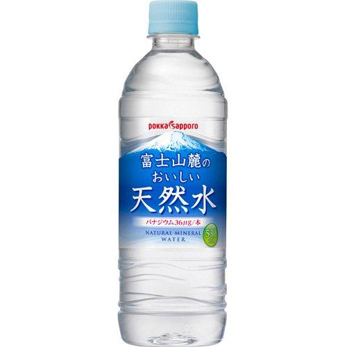 ポッカ富士山麓のおいしい天然水 530ml×24本 PET