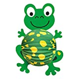 Idena 8310054 - Laterne Frosch, Größe 48 x 33 cm, Papier, Lampion, St. Martin, Lichterfest, Laternenumzug, Advent, Weihnachten, Dekoration