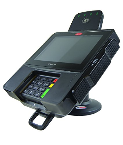 LOCK and KEY - Ingenico iSC480 Touch Credit Card Terminal Stand - Compact 3' Tall - Secured