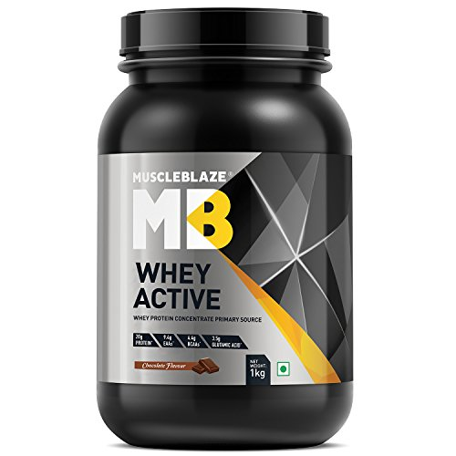 MuscleBlaze Whey Active Protein Supplement Powder (Chocolate, 1 Kg / 2.2 lb)