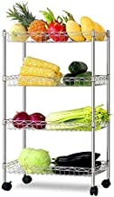 Home Living Museum/Kitchen Shelf 304 Stainless Steel Floor Standing Microwave Storage Storage Shelf Floor Multi Layer Thic...
