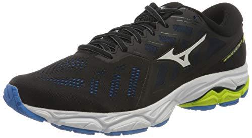 Mizuno Wave Ultima 11, Zapatillas para Correr de Carretera Hombre, Negro/Blanco/Azul Diva, 45 EU