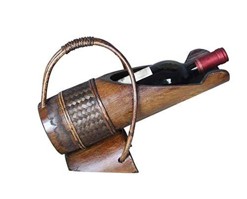 L.W.S Cremagliera Cremagliera for Vino Creativo Bamboo bambù Portabico di bambù Soggiorno Soggiorno Wine Bar Bar Retro Vino Vino Cremagliera del Vino Bottiglia di Vino Decorazione Rack
