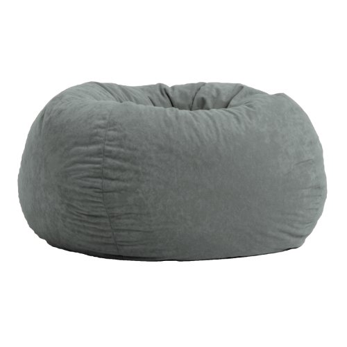 Comfort Research Classic Bean Bag in Comfort Suede, Black Onyx