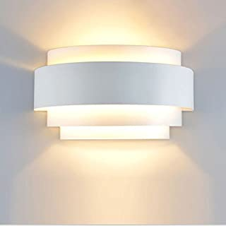 Lightess Modern Sconce Light 5W Hardwired LED Wall Lights Up Down Wall Lamp Indoor for Bedroom Hallway, Warm White, 3000K