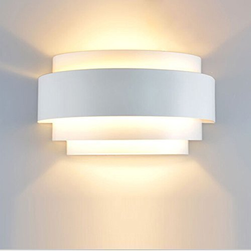 Unimall Aplique de Pared LED Moderna Lámpara de Pared en Interior Iluminacion de Pared de Noche en Hogar Bombilla Incluída para Dormitorio, Studio, Hogar Decoración, Porche, Closet Garaje (B) ✅