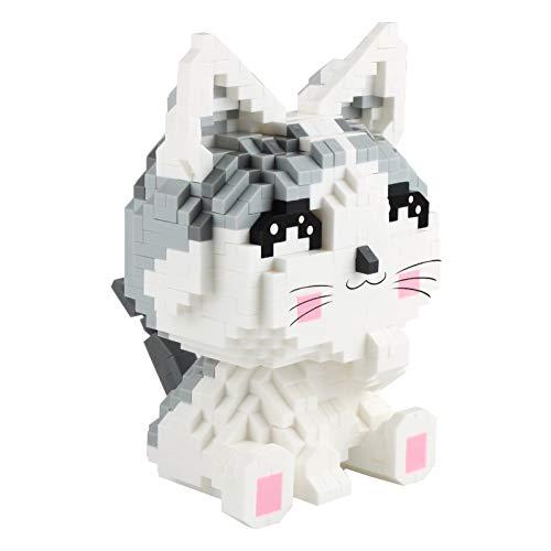 Larcele Mini Katze Bausteine Spielzeug Bricks Tier Bauen Bauklötze,1022 Stücke KLJM-02 (Modell 2284) Mehrweg