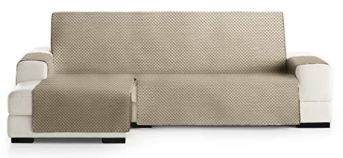 JM Textil Couvre-canapé d´Angle Matelassé Elena, Angle à Gauche, Taille 240cm, Couleur Chameau 11