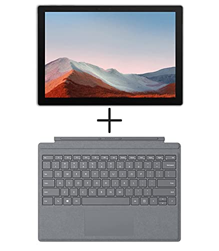 Microsoft Surface Pro 7 - Intel Core i7-16GB Memory - 256GB SSD - Matte Black - with Signature Type Cover Included (Renewed)