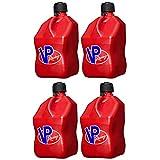VP Racing Fuels Motorsport 5 Gallon Square Plastic Utility Jug Red (4 Pack)