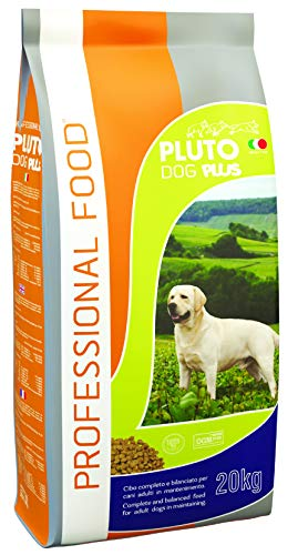 Pluto Dog Plus Crocchette Cani 20 Kg Offerte, Cibo Per Cani Adulti Completo E Bilanciato, Snack Per Cani, Carne Secca Disidratata, Crocchette Per Cani