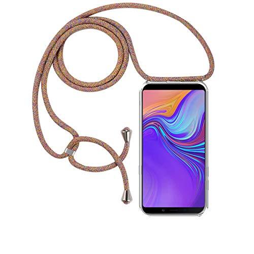 FMPC Carcasa con Cuerda Samsung Galaxy A9 2018, Cristal TPU Silicona Transparente Ultrafina de movil Case con Colgante Funda Protector Airbag [Moda y Practico] Anti-rasguños Antichoque