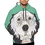 Hoodies English Setter Dog Graphic Print Hoodies Pullover Sweatshirt Pockets of Men