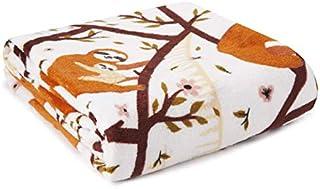 Just Home Fun Print Soft Cozy Lightweight 50 x 60 Fleece Throw Blanket (Sloth Blanket)