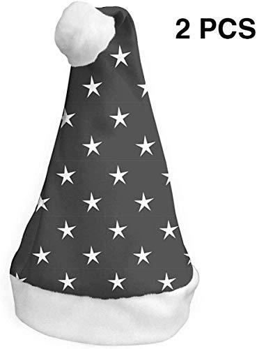 deyhfef Sterne Weihnachten Nikolausmütze Urlaub Weihnachtsfeier Hut Weihnachtsdekoration für Erwachsene & Kinder 2 STÜCKE S